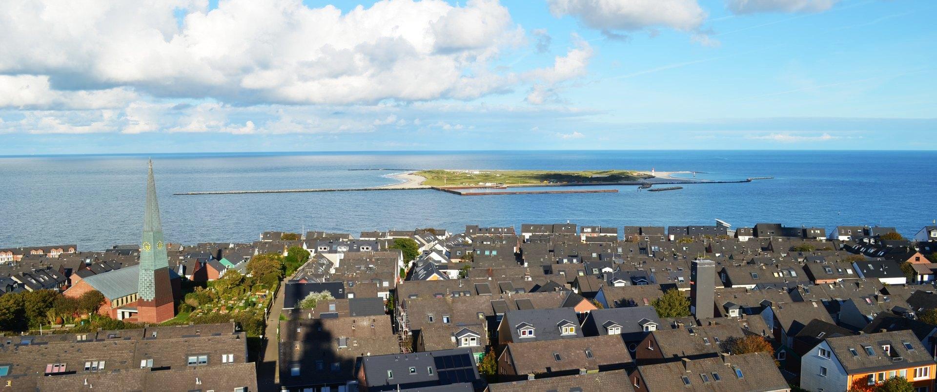 Helgoland Stadtblick von oben